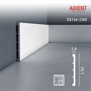 Sockelleiste mit Kabelkanal Orac Decor DX168-2300 AXXENT Wandleiste multifunktional Kabel Kanal Leiste   2, 30 Meter