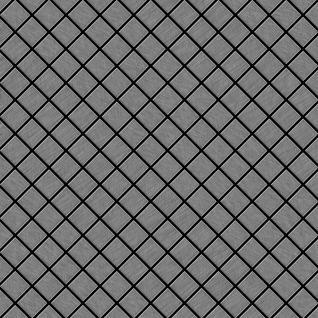 Mosaik Fliese massiv Metall Edelstahl marine gebürstet in grau 1, 6mm stark ALLOY Diamond-S-S-MB 0, 91 m2