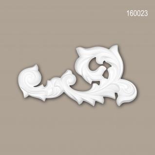 Zierelement PROFHOME 160023 Rokoko Barock Stil weiß