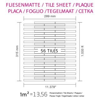 Mosaik Fliese massiv Metall Edelstahl matt in grau 1, 6mm stark ALLOY Avenue-S-S-MA 0, 74 m2 - Vorschau 4