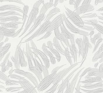 Grafik Tapete Profhome 367031-GU Vliestapete leicht strukturiert mit grafischem Muster matt grau weiß silber 5, 33 m2