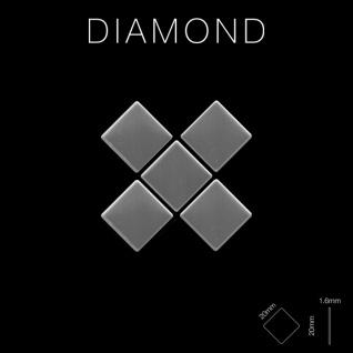 Mosaik Fliese massiv Metall Edelstahl hochglänzend in grau 1, 6mm stark ALLOY Diamond-S-S-M 0, 91 m2 - Vorschau 2
