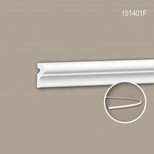 Wand- und Friesleiste PROFHOME 151401F Stuckleiste Flexible Leiste Zierleiste Neo-Klassizismus-Stil weiß 2 m