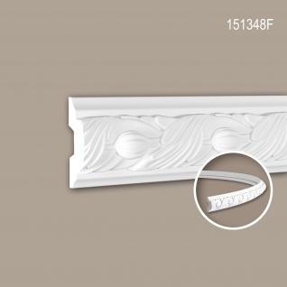 Wand- und Friesleiste PROFHOME 151348F Stuckleiste Flexible Leiste Zierleiste Rokoko Barock Stil weiß 2 m