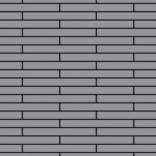 Mosaik Fliese massiv Metall Edelstahl matt in grau 1, 6mm stark ALLOY Deedee-S-S-MA 0, 63 m2