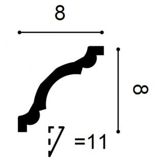 Zierleiste Profilleiste Orac Decor CX123 AXXENT Stuckleiste Stuck Profil Eckleiste Wand Leiste Decken Leiste 2 Meter - Vorschau 2