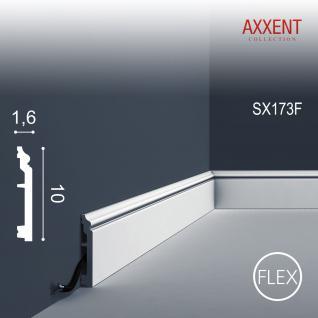 Sockelleiste Orac Decor SX173F AXXENT CONTOUR flexible Zierleiste Stuckleiste Zeitloses Klassisches Design weiß 2m