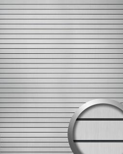 Selbstklebendes Wandpaneel abriebfest WallFace 18585 RIGATO gebürstete Metalloptik Querstreifen silber schwarz 2, 6 qm - Vorschau 1