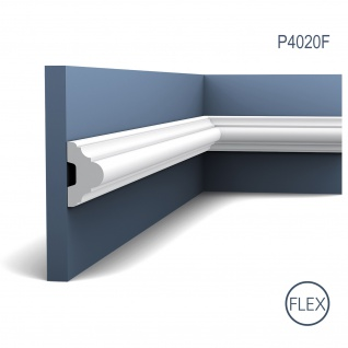 Friesleiste Stuck Orac Decor P4020F LUXXUS flexible Wandleiste Zierleiste Dekor Profil Leiste Zierleiste Wand | 2 Meter