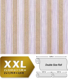 Streifen Tapete XXL Vliestapete EDEM 658-92 Elegante Blockstreifen Tapete lila violett flieder dezente gold glitzer 10, 65 m2