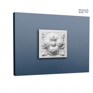 Zierelement Stuck Orac Decor D210 LUXXUS Türumrandung Stuck Decken Wand Dekor Profil Akanthus Blätter | 9 x 9 cm