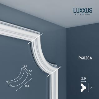 Wandleiste Stuck Orac Decor P4020A LUXXUS Eckelement Stuck Zierleiste für Friesleiste Rahmen Spiegel Profil Wand Dekor