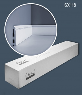 Orac Decor SX118 LUXXUS 1 Karton SET mit 14 Sockelleisten Profilleisten 28 m