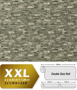 3D Stein Vliestapete EDEM 918-36 XXL geprägte Naturstein Bruchstein-Optik hochwertig grau steingrau 10, 65 qm