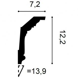 Eckleiste Orac Decor C304F LUXXUS flexible Leiste Zierleiste Deckenleiste Stuckgesims Wand Dekor Leiste | 2 Meter - Vorschau 2