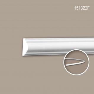 Wand- und Friesleiste PROFHOME 151322F Stuckleiste Flexible Leiste Zierleiste Neo-Klassizismus-Stil weiß 2 m