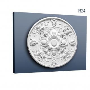 Stuckrosette Stuck Orac Decor R24 LUXXUS Rosette Profil Wand Classic Dekor Element weiß hochwertig | 79 cm Durchmesser