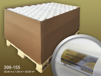 Renoviervlies PROFHOME PremiumVlies 150 g Profi-Malervlies Glattvlies Vlies-Gewebe überstreichbar 1 Pal. 1925 qm 77 Rol.