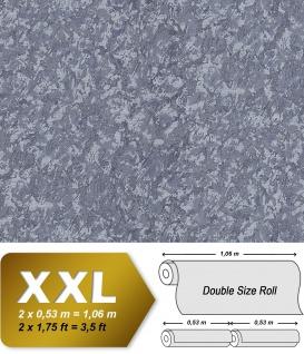 Uni Tapete EDEM 9076-27 Vliestapete geprägt in Spachteloptik und Metallic Effekt grau tauben-blau blau-grau 10, 65 m2