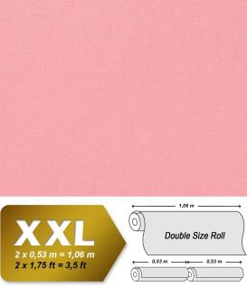 Uni Tapete XXL Vliestapete EDEM 903-15 Geprägte Struktur Unitapete Textiloptik Pastellfarben pink rosa 10, 65 m2