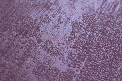 Uni Tapete Atlas TEM-5112-6 Vliestapete strukturiert in Spachteloptik schimmernd rot bordeaux-violett purpur-rot 7, 035 m2 - Vorschau 3