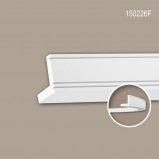 Eckleiste PROFHOME 150226F Stuckleiste Flexible Leiste Zierleiste Modernes Design weiß 2 m