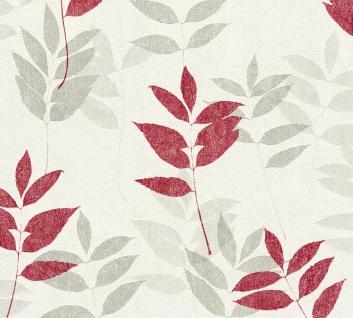 Natur Tapete Profhome 372613-GU Vliestapete leicht strukturiert mit floralen Ornamenten matt rot grau beige 5, 33 m2