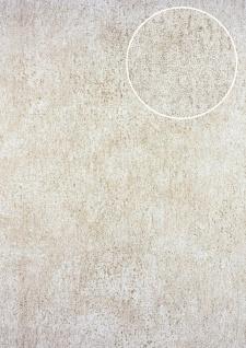 Ton-in-Ton Tapete ATLAS HER-5131-2 Vliestapete strukturiert im Shabby Chic Stil glänzend creme perl-weiß perl-gold 7, 035 m2