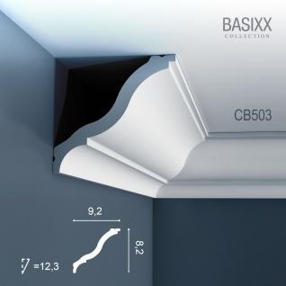Eckleiste Stuck Orac Decor CB503 BASIXX Zierleiste Stuckprofil Stuckleiste Dekor klassisch Wand Decken Leiste | 2 Meter