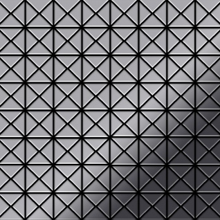 Mosaik Fliese massiv Metall Edelstahl marine hochglänzend in grau 1, 6mm stark ALLOY Deco-S-S-MM 0, 92 m2