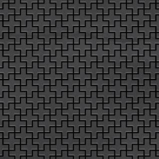 Mosaik Fliese massiv Metall Rohstahl gewalzt in grau 1, 6mm stark ALLOY Swiss Cross-RS 0, 88 m2