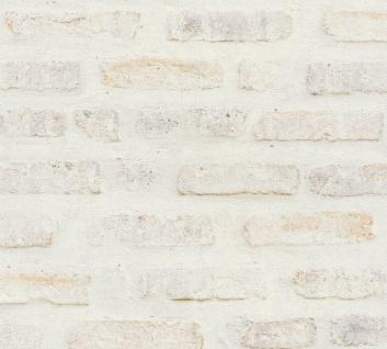 Stein Kacheln Tapete Profhome 374221-GU Vliestapete glatt in Steinoptik matt weiß grau rot 5, 33 m2