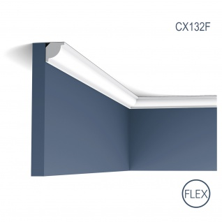 Stuckleiste Zierleiste Profilleiste Orac Decor CX132F AXXENT Flexible Stuck Profil Eckleiste Decken Leiste | 2 Meter