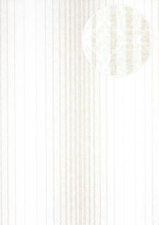Streifen Tapete Atlas PRI-528-4 Vliestapete glatt im Barock-Stil matt creme perl-weiß elfenbein perl-beige 5, 33 m2