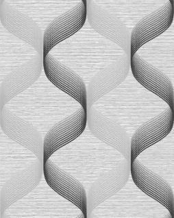 Retro Tapete EDEM 1034-10 Vinyltapete strukturiert mit grafischem Muster glitzernd silber grau anthrazit 5, 33 m2