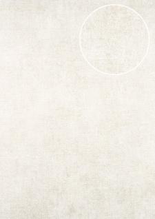 Uni Tapete ATLAS CLA-598-5 Vliestapete glatt im Used Look schimmernd creme perl-gold perl-weiß 5, 33 m2