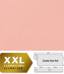 Uni Tapete XXL Vliestapete EDEM 903-16 Geprägte Struktur Textiloptik Unitapete Pastellfarben rosa altrosa 10, 65 m2