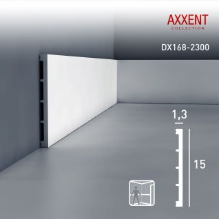 Sockelleiste mit Kabelkanal Orac Decor DX168-2300 AXXENT Wandleiste multifunktional Kabel Kanal Leiste | 2, 30 Meter