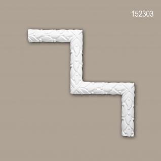 Eckelement PROFHOME 152303 Zierelement Rokoko Barock Stil weiß