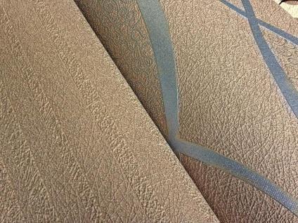 Streifen Tapete EDEM 1015-13 Fashion Designer Uni-Tapete dezente Struktur-Muster hochwaschbare Oberfläche kakao-braun - Vorschau 4