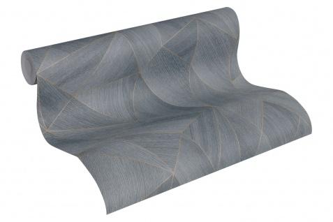 Grafik Tapete Profhome 361333-GU Vliestapete glatt mit grafischem Muster matt grau schwarz 5, 33 m2 - Vorschau 2