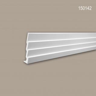 Eckleiste PROFHOME 150142 Zierleiste Stuckleiste Modernes Design weiß 2 m
