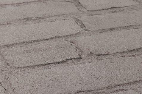 Stein Kacheln Tapete Profhome 374143-GU Vliestapete glatt in Steinoptik matt grau schwarz 5, 33 m2 - Vorschau 3