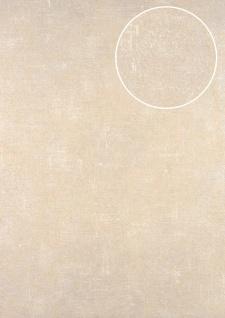 Uni Tapete ATLAS CLA-598-3 Vliestapete glatt im Used Look schimmernd beige grau-beige perl-beige 5, 33 m2