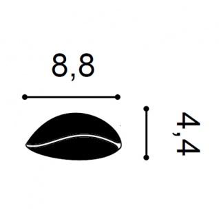 Stuckgesims von Orac Decor G78 Lily Ulf Moritz LUXXUS Zierelement Stuckprofil klassisches Wand Dekor Element weiß - Vorschau 2