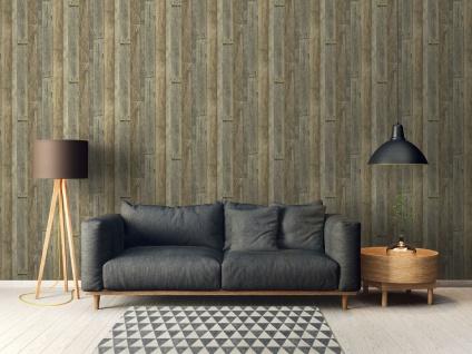 Holz Tapete Profhome 959313-GU Vliestapete glatt in Holzoptik matt grau weiß beige 5, 33 m2 - Vorschau 5