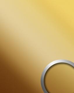 Wandpaneel Spiegel Dekor Glanz-Optik WallFace 10139 DECO BRASS Paneel Wandverkleidung selbstklebend messing | 2, 60 qm