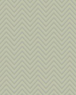 Streifen Tapete Profhome BA220093-DI heißgeprägte Vliestapete geprägt mit Chevron Muster und metallischen Akzenten grau silber 5, 33 m2