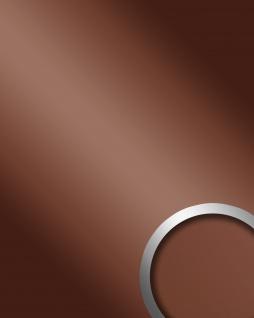Wandpaneel Spiegel Dekor Glanz-Optik WallFace 15275 DECO BRONZE Paneel Wandverkleidung selbstklebend braun | 2, 60 qm
