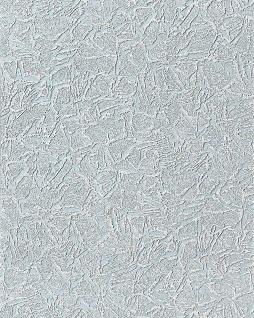Spachtel Tapete Putz Tapete EDEM 238-52 Struktur Vinyl 3D metallic effect blau weiß dezente silber glitter 7, 95 qm - 15 meter